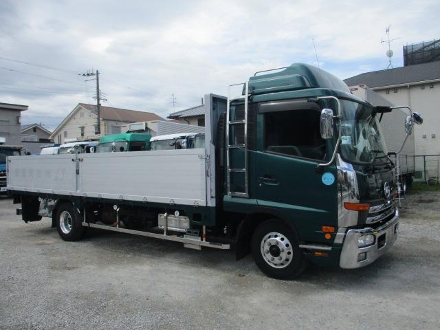 中古トラック 【動画】H27年 UD 4tアルミ平 走行52万キロ エアサス 車検付