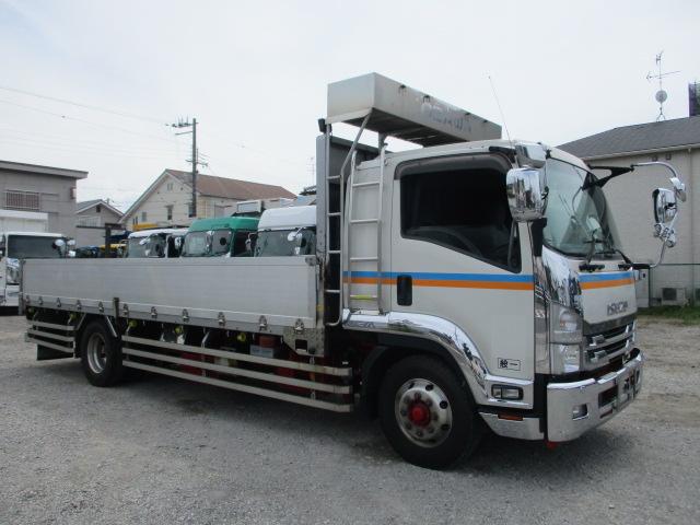 中古トラック 【動画】H28年 いすゞ 増tアルミ平 走行42万キロ エアサス