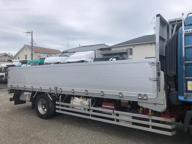 中古トラック 【動画】H25年 日野 増tアルミ平 走行51万キロ エアサス